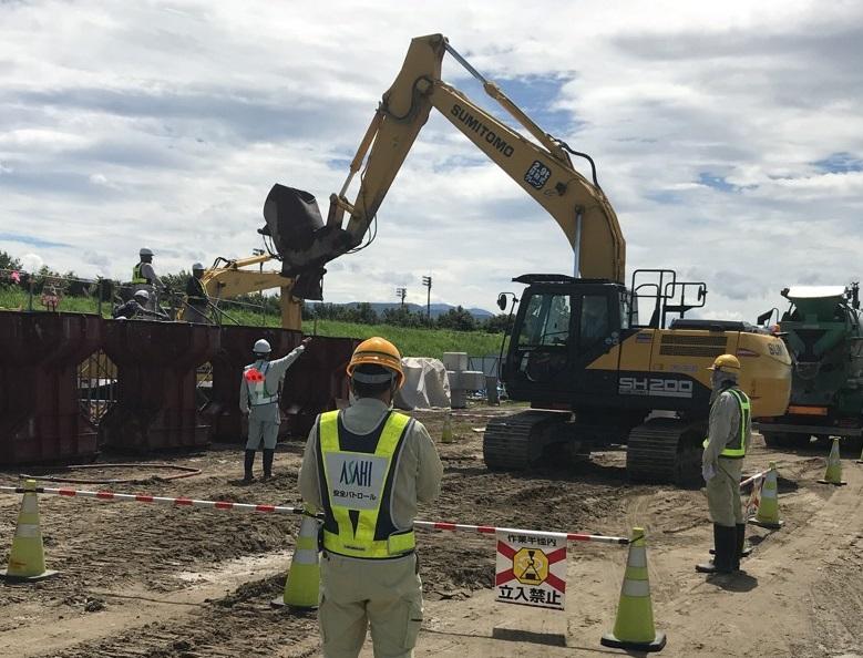 ▽▲施工中▲▽ 神通川・中神通護岸災害復旧その3工事